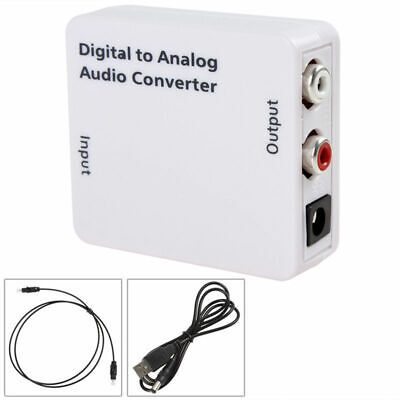 2X(Optico 3.5mm Coaxial Toslink Digital a Analogico Conversor adaptador de au 5M