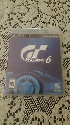Gran Turismo 6 (Sony PlayStation 3, 2013) Disc is perfect!