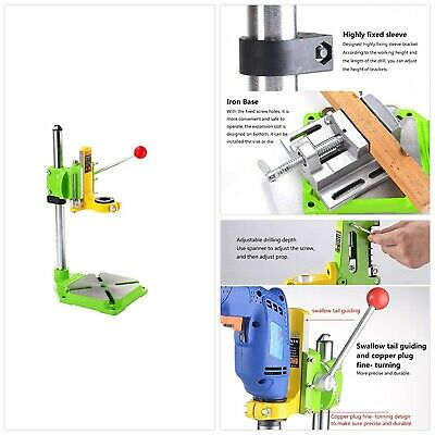 TopDirect Multifunction Benchtop Drill Press Floor Drill Stand Table for Drillin