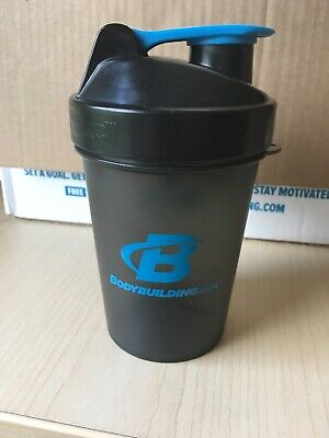 Bodybuilding.com Lite Shaker Bottle 20 Oz Smartshake Black Blue Blender Bottle