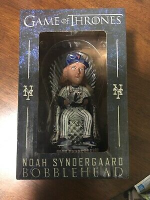 METS NOAH SYNDERGAARD GAME OF THRONES BOBBLEHEAD SGA 4/27/2019. New In Box.