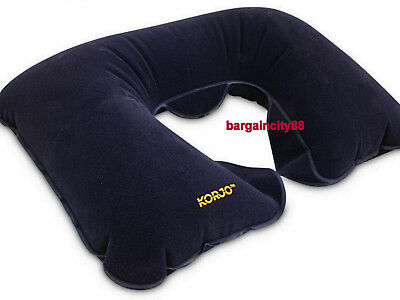 Inflatable Blow Up Neck Head Rest U Shape Pillow Cushion Support Flight Travel