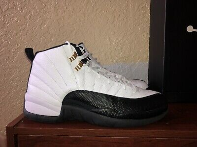 2e2e5c27db2 [130690 125] New Men's Air Jordan 12 Retro Taxi 2013 White Black V Red
