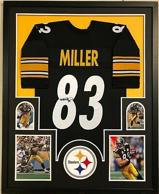 314a7cb9c Framed Pittsburgh Steelers Heath Miller Autographed Signed Jersey Tse Coa