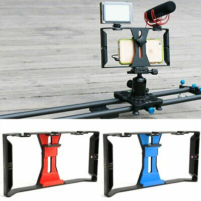 Video Camera Cage Stabilizer Film Making Rig for iPhone Samsung 4~7""
