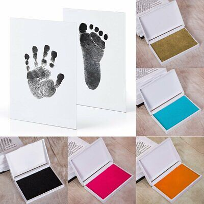 Newborn Baby Handprint and Footprint with Clean Touch Ink Pad Photo Frame Kit