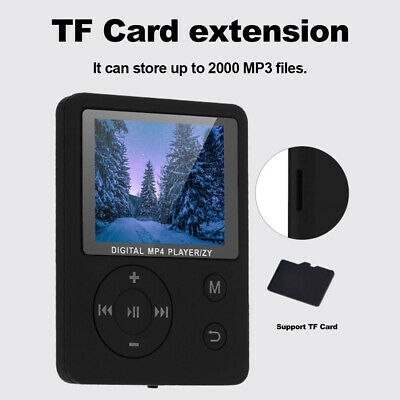 Portable MP3 MP4 Music Player Lossless FM Radio Voice Record TF Card Black Q5N1