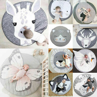 Soft Thick Cotton Cushion For Baby Play Mat Infant Kids Cute Floor Rug Crawling