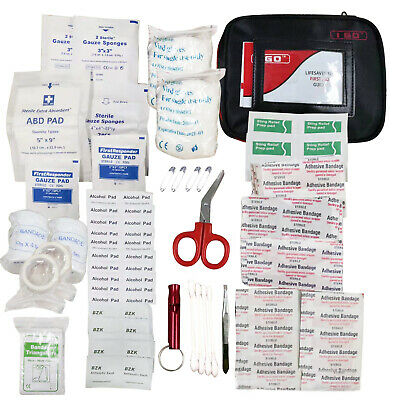 First Aid Kit Travel Camping Home Sport Emergency Survival Rescue Medical Bag US