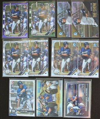 KESTON HIURA 2017-18-19 Bowman LOT x11 Chrome REFRACTOR Insert CAMO Purple /250