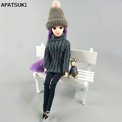 1/6 Doll Accessories Knitted Woven Doll Clothes Sweater Jeans Pants For 1/6 Doll