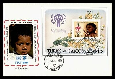 Dr Who 1979 Turks & Caicos Islands Fdc #390 S/S Intl Year Of The Child  105568