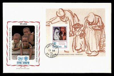 Dr Who 1979 St. Lucia Fdc #477 S/S Intl Year Of The Child  105565