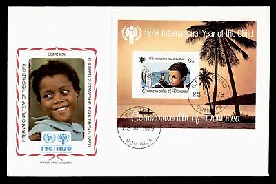 Dr Who 1979 Dominica Fdc #617 S/S Intl Year Of The Child  105548