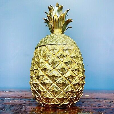 Vintage Rare Collectable Mauro Manetti Gold Pineapple Ice Bucket