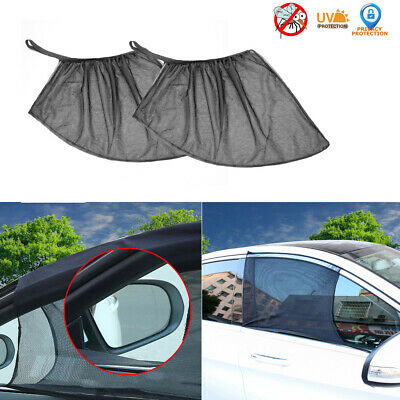 2x Auto Sun Shade Front Window Screen Cover Sunshade Protector For Car Black