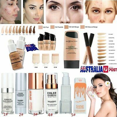PHOERA Matte TML Color Changing Oil Control Concealer Liquid Foundation Beauty @