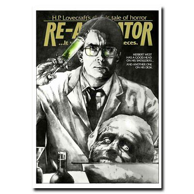 Re-Animator 12x17/24x34inch Classic Horror Movie Silk Poster Wall Decoration