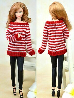 High Quality Doll Accessories Knitted Sweater Tops Dress Clothes For 1/6 Doll