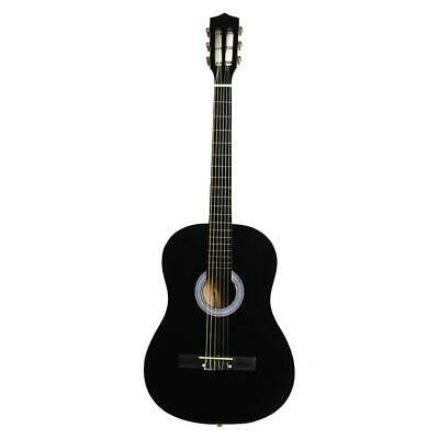 "Acoustic Classic Guitar 38"" For Beginners Student Adults Pick 6 Strings Black"