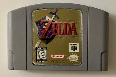 Legend of Zelda: Ocarina of Time (Nintendo 64, 1998) N64 Game Cartridge Working