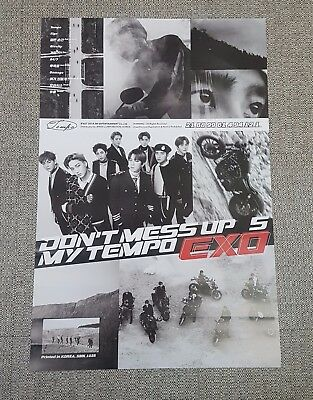 K-POP EXO 5th Album [DON'T MESS UP MY TEMPO] Allegro Ver. OFFICIAL POSTER -NEW-