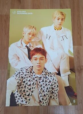 K-POP EXO-CBX 2nd Mini Album [Blooming Days] OFFICIAL POSTER -NEW-