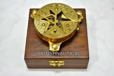 Maritime Antique  Style Brass Pocket Compass Nautical Vintaage Collectible