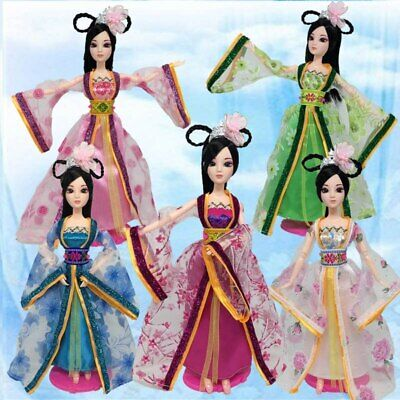 Doll Accessories Traditional Chinese Ancient Doll Clothes For 1/6 Doll Dress Toy