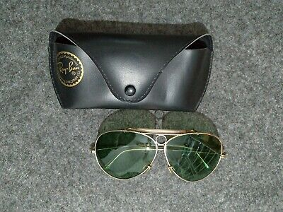 Ray Ban B&L BULLET SHOOTER 62 Bausch & Lomb made in USA VINTAGE GOLD and GREEN