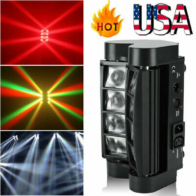 80W RGBW 8LED Spider Moving Head Stage Lighting Beam DMX Disco Party DJ Light US