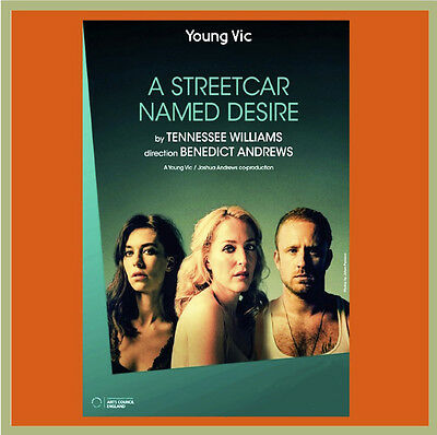 The Young Vic's A STREETCAR NAMED DESIRE (Gillian Anderson), 2014 FREE SHIPPING