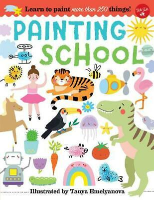 Painting School: Learn to paint more than 250 things! Paperback Book Free Shippi