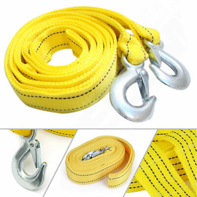 5 Tonne 4m Trailer Towing Rope With Heavy Road Recovery Hook Compartment