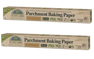 If You Care Unbleached Parchment Baking Paper - 2x70 sq ft Rolls