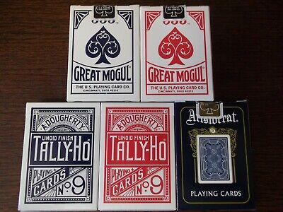 """5 x Different SUPERB PACKS """"Bicycle Types - Various"""" Packs of Playing Cards"""