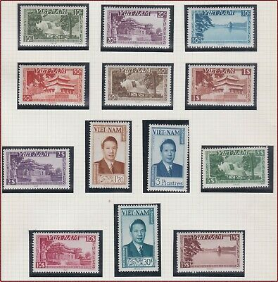 VIETNAM EMPIRE N°1/13* GT, 1951 South Vietnam 1-13 Bao Dai & Cities MH