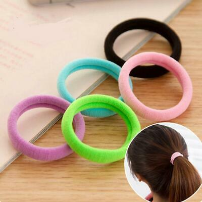Women Girls Elastic Hair Band Headwear Rubber Bands Ponytail Colorful 50PCS