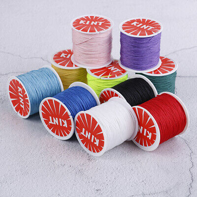 0.8mm Nylon cord thread Chinese knot macrame rattail bracelet braided string _WK
