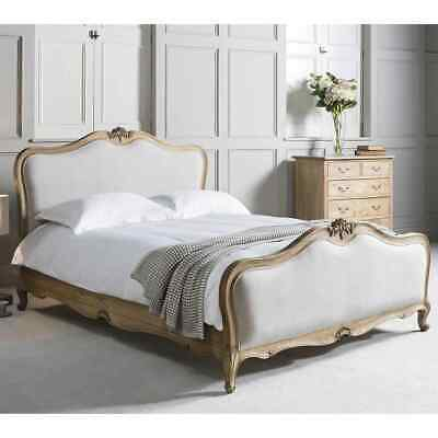 Frank Hudson Chic Weathered Upholstered Bed