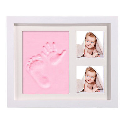 For Newborn Baby Hand Foot Print Clay Cast Kit Photo Picture Frame Gift CL