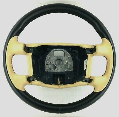 Genuine Bentley Continental GT cream and black leather steering wheel.      15B