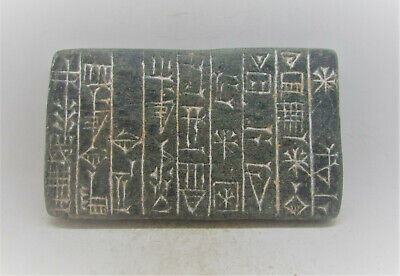 Museum Quality Ancient Near Eastern Stone Tablet With Early Form Of Writing