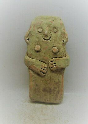 Scarce Ancient Bronze Age Cypriot 'Plank' Type Idol Circa 2200-1600Bce