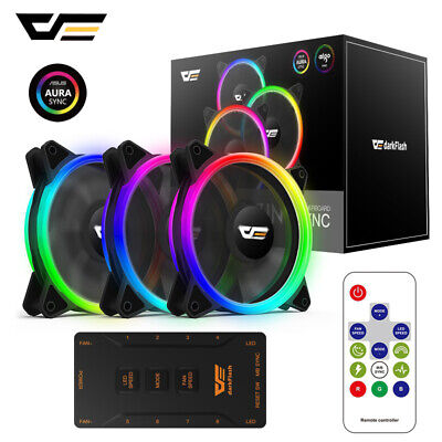 1XGame Max 12cm 120mm Eclipse RGB Fan Cooler Case For PC Computer Cooling 6pin
