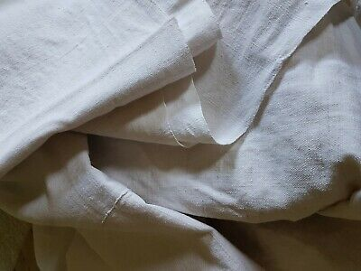 Antique metis flax linen seamed double sheet embroidered initials RS Ex Cond.