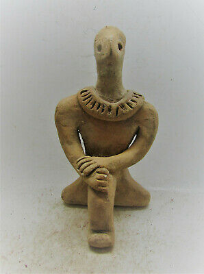 Circa 3000-2000Bce Ancient Near Eastern Soumerian Terracotta Worshipper Statue