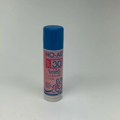 NO-AD BABIES SUNBLOCK STICK SPF 30 WATERPROOF AND HYPOALLERGENIC 17g