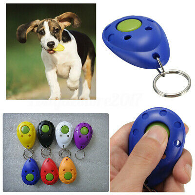 Dog Pet Puppy Cat Training Clicker Obedience Aid Wrist Click Button Trainer UK