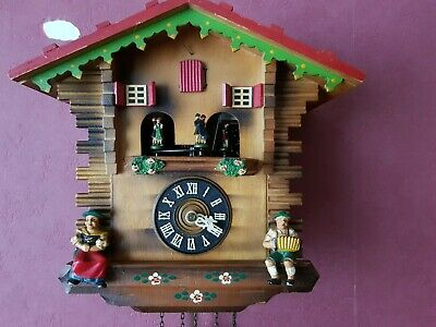 Vintage Black Forest Chalet Cuckoo Clock with Music box ( around 1971)
